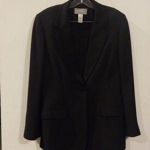 LIZ Claiborne black suits jacket size 14 / pant 16